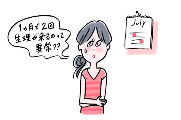 1カ月で2回生理が来るのって異常? 原因と対処法