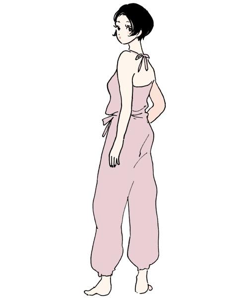 ヨガの服装(オールインワンタイプ)