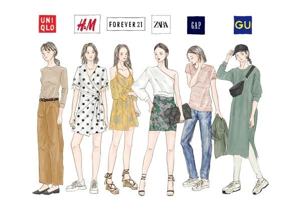 ファストファッション代表ブランド