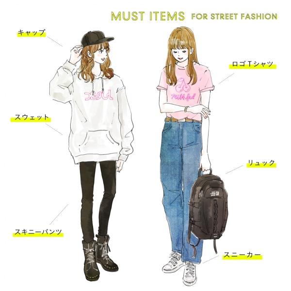 ストリートファッションの代表アイテム