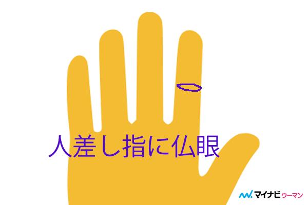 人差し指にある仏眼「記憶力に優れている」