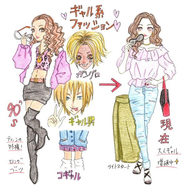 ギャル系ファッションとは。90年代と現在での変化