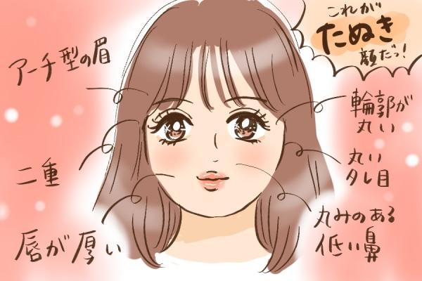 たぬき顔の特徴