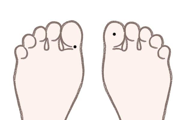 足の親指のほくろ裏側にある場合⇒いい住居に恵まれる