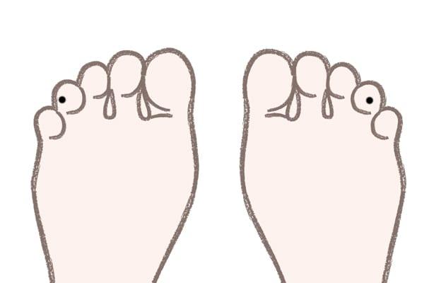 足の薬指にあるほくろ裏側にある場合⇒お金に恵まれる