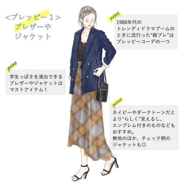 レディースプレッピーファッションの代表アイテム「ブレザー・ジャケット」