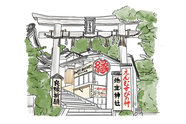 京都 縁結び 神社 地主神社