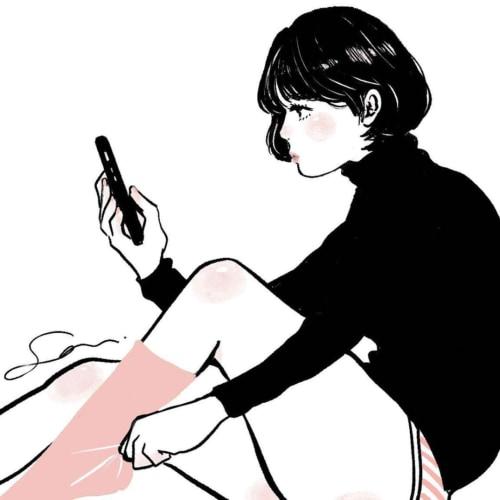 ヤンデレな女の子のイラスト